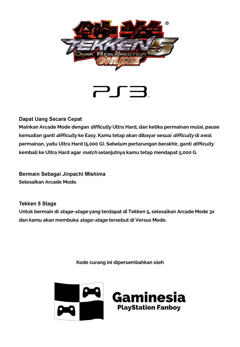 Kode Curang Tekken Lengkap: 1995-2017 • Gaminesia