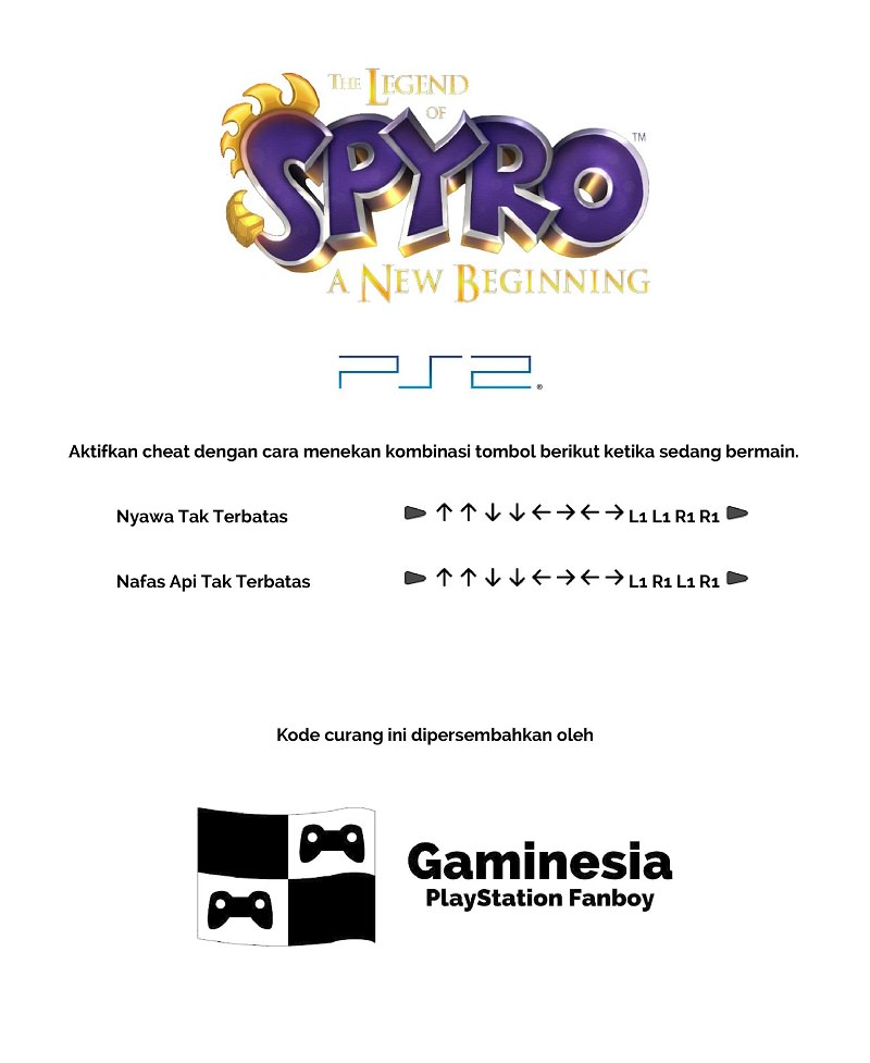 Kode Curang The Legend of Spyro: A New Beginning