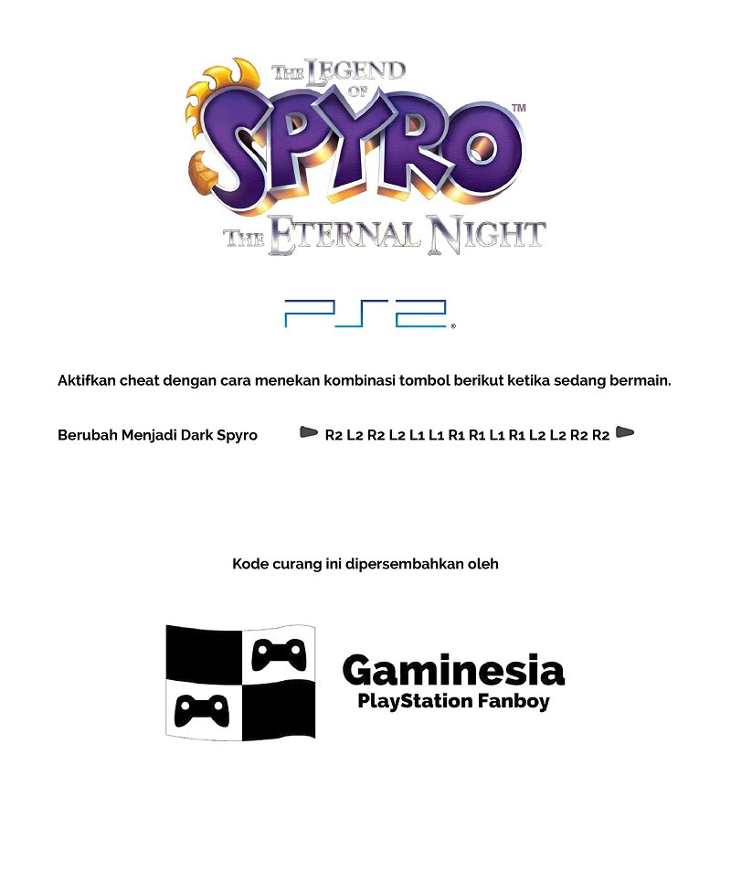 Kode Curang The Legend of Spyro: The Eternal Night